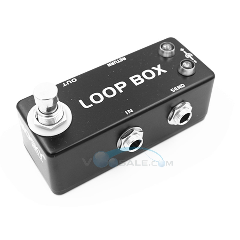 Mosky LOOP BOX Guitar Effect Pedal Mini Single With True Bypass Zinc-Aluminium Alloy Switcher Channel Selection Guitar Pedal