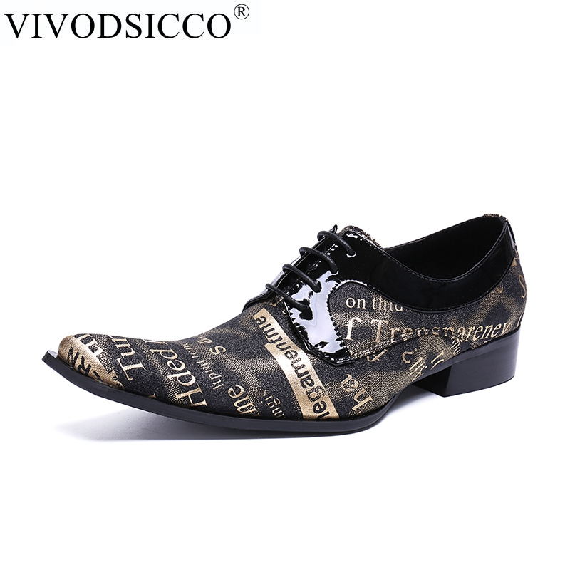 VIVODSICCO Men Oxfords Shoes Pointed Toe Patent Leather Lace-Up Men Dress Shoes Flats Fashion Nubuck Leather Wedding Shoe 2017 men s cow leather shoes patent leather dress office wedding party shoes basic style pointed toe lace up eu38 44 size