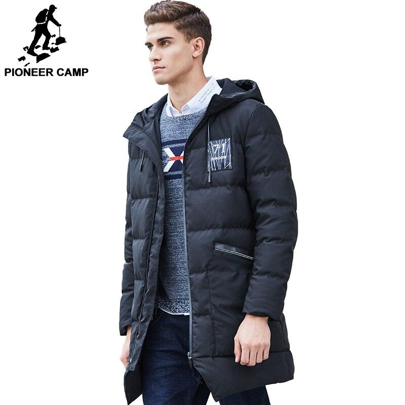 Пионерский лагерь Длинная утепленная зимняя куртка-пуховик брендовая мужская одежда теплый пуховик мужской наивысшего качества Мужская П...