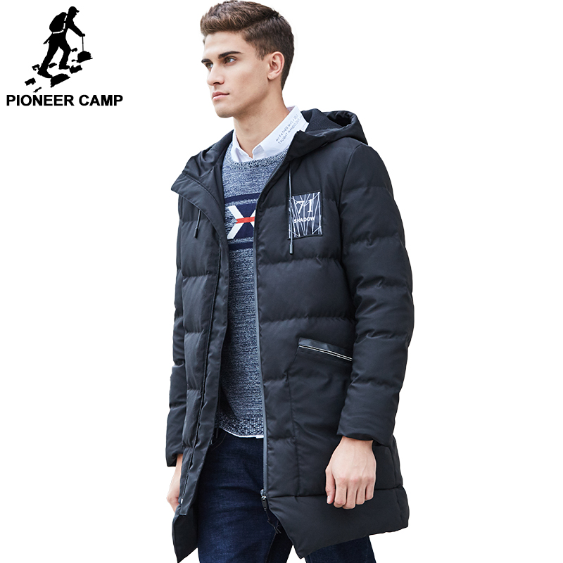 Pioneer Camp long thicken winter down jacket men brand clothing warm duck down coat male top quality men down parkas 625001 viishow 2017 new long winter jacket men brand clothing male cotton autumn coat new top quality black down parkas men mc2118174