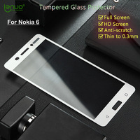 Full Screen Tempered Glass Film For Nokia 6 Screen Protector Lenuo Soft Edge Full Cover For