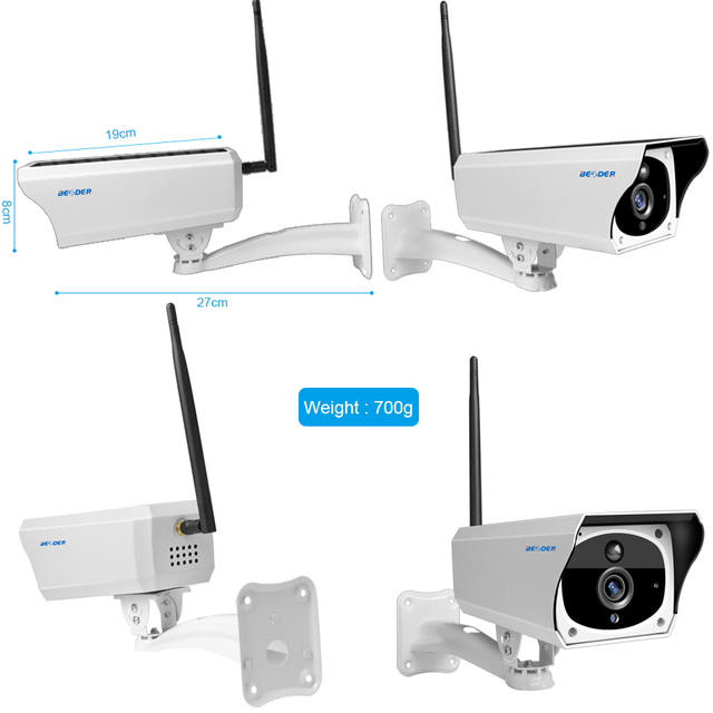 BESDER 1080P Solar Camera IP WIFI Cameras With 6800mAh Battery Two way Audio Mobile Phone Remote Control 2MP Outdoor IP Camera Surveillance Cameras