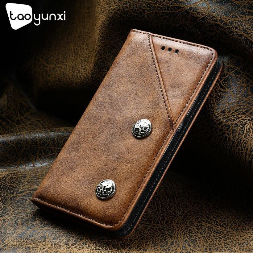 TAOYUNXI Cases For Oukitel K6000 Plus Case Leather Retro Flip Wallet Multifunction Magnetic Covers Bags Shell Skin Hood Housings