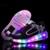 2017 Crianças Sapatos com Luz LED Crianças Sapatos Tênis Brilhantes com Rodas de Preto Rosa Crianças Sapatos com Luz Led para meninos/Meninas