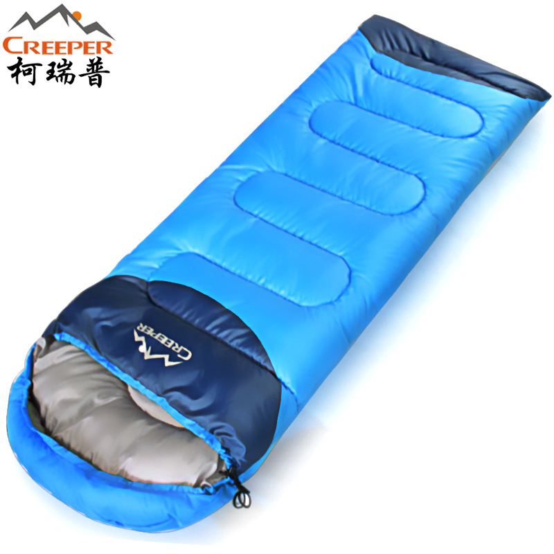 Creeper Thickening Winter Warm Outdoor Sleeping Bag Splicing Envelope Waterproof Traveling Hiking Camping Single Sleeping Bags creeper cr sl 002 outdoor envelope style camping sleeping bag w hood royalblue dark blue