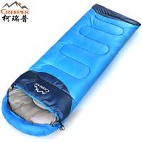 Creeper Thickening Winter Warm Outdoor Sleeping Bag Splicing Envelope Waterproof Traveling Hiking Camping Single Sleeping Bags