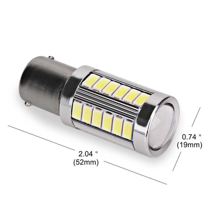 2 шт. 1156 P21W BA15S 5630 5730 светодиодный стоп-сигналы 12 V авто задний фонарь указателя поворота дневного света красный белого и желтого цвета