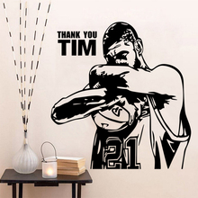 New arrival Vinyl wall art sticker basketball Star Tim Duncan  stickers decoration Decor mural
