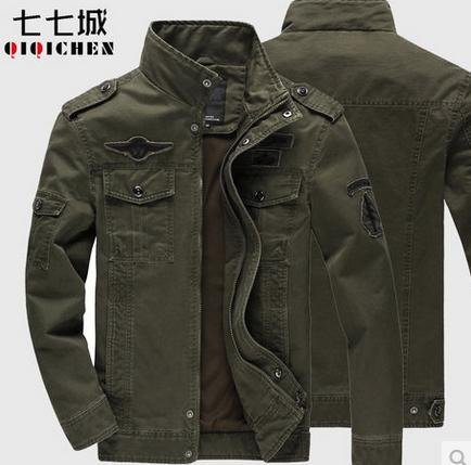 2017 New Arrival Regular plus size plus size casual Men Jacket Stand Collar cotton army cargo