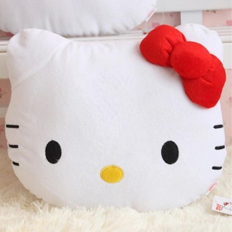 Lovely Juguetes Pillow Soft Stuffed Hello Kitty Plush Toys Cushion Pelucia Neck Pillow KT Car Cushion Decoration Gift