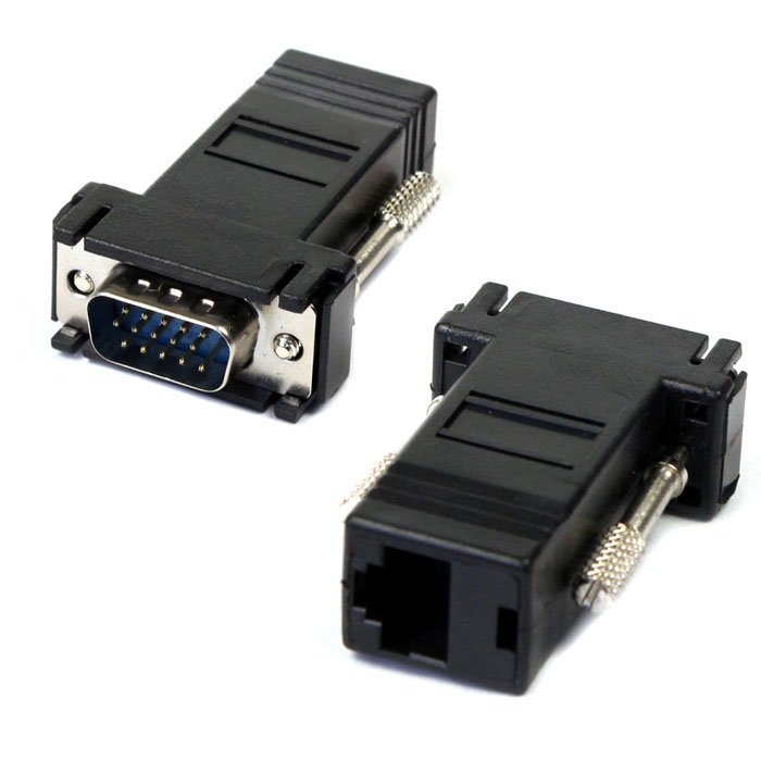 New VGA Extender Male To Lan Cat5 Cat5e RJ45 Ethernet Female Adapter Drop Shipping L1113#2
