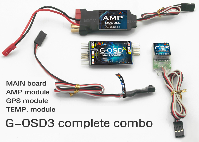 Free Shipping OSD /G-OSD3 Set/ OSD System/ FPV Display System/ Temp Mould and AMP Mould included