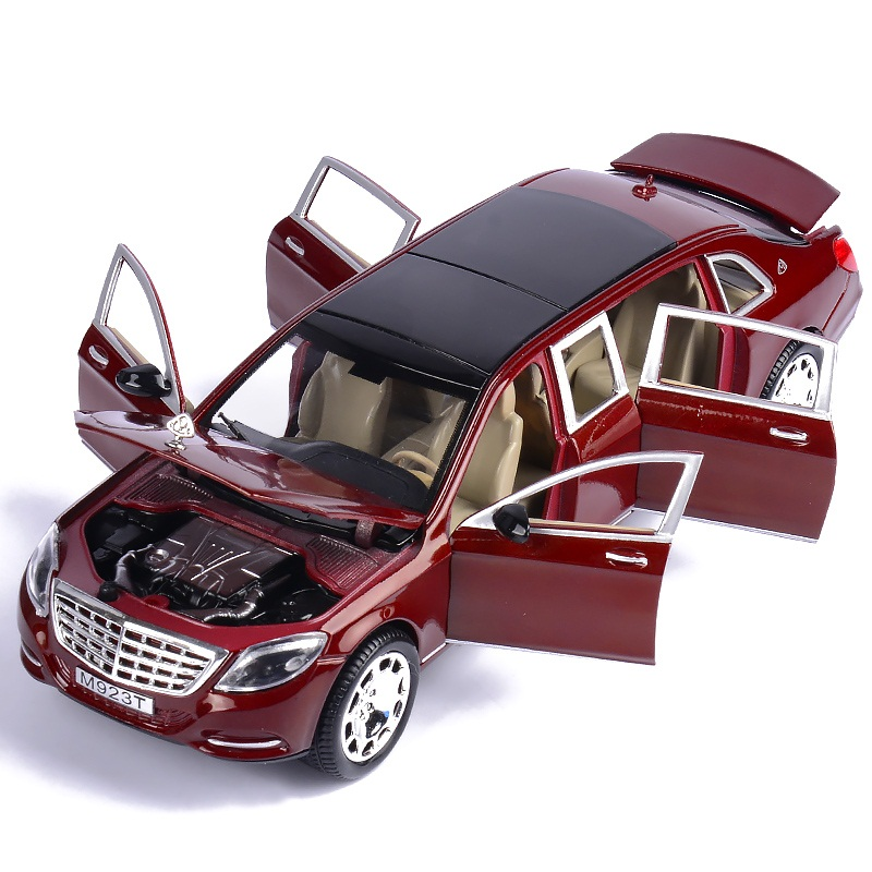 1:24 Alloy Car Model 6 Doors Open 21Cm DieCasts Vehicles Luxury Outlook Excellent Quality Red And Black Color Safty Packing