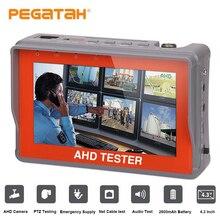 4 3 inch AHD Tester 1080P Analog font b Camera b font Testing 12V1A Output PTZ