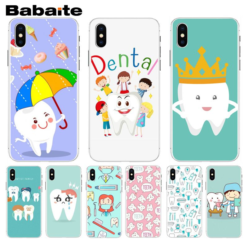 Aspiring Babaite Nurse Doctor Dentist Stethoscope Tooth Injections Phone Case For Iphone 5 5s 5c Se And 6 6s 7 7plus 8 8plus Phone Case Invigorating Blood Circulation And Stopping Pains Cellphones & Telecommunications