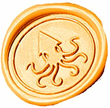 Custom Big Octopus Picture Logo Wedding Wax Seal Stamp Sticks Box Set Kit Vintage