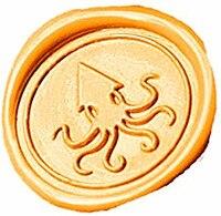 Vintage Big Octopus Custom Picture Logo Wedding Invitation Wax Seal Sealing Stamp Sticks Spoon Gift Box