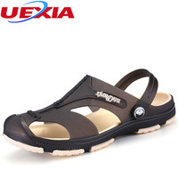 New Summer Cool Boys Personalized Buckle Breathable Casual Flip Flop Beach Flats Sandals Men Shoes Slipper