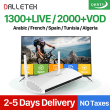 Dalletektv Leadcool Android IPTV Kutusu Arapça Fransızca 1300 + Avrupa QHDTV IPTV Abonelik 1 Yıl İspanya Almanya Italia IPTV Üst kutu