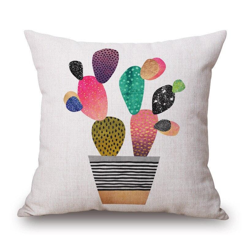 Aliexpress.com : RUBIHOME Neue Design Kaktus Geometrischen Abstrakten  Dekorative Kissenbezug Werfen Kissenbezug Polyester gewebe Home Decor Sofa  Sitz von ...
