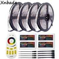 Highlight 5m 10m 15m 20m 5050SMD RGB Led Strip 60Leds/m Flexible Light DC12V Milight RGB Led Controller Remote Controller Kit