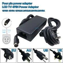 Adaptateur dalimentation pour TV et écran LCD, 12v 5a, 12v 6a, 8a, 24v 2a, 24v 3a, 24v 5a, 4 broches, adaptateur VCR, quatre broches, commutation