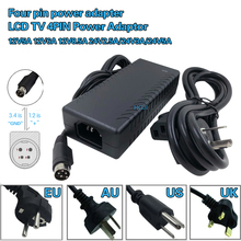 TV LCD Power Adapter DC12v 5a 12 v 6a 12 v 8a 24 v 2a 24 v 3a 24 v 5a 4pin adapter VCR Adapter 24V3A vier pin schakelende voeding