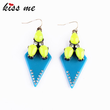 New Designer 2017 Fashion jewelry Bright Color Resin Triangle Fashion Earrings For Christmas Gifts image