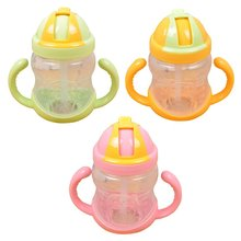 Baby Feeding Bottle Cute Girl Boy Mini Cup With Handles Baby Straw Cup Children Drinking Bottle