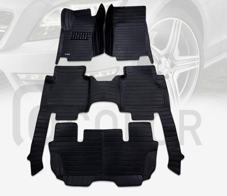 Автомобильные коврики хорошего качества! Пользовательские автомобильные коврики для Audi Q7 7 мест 2018 водонепроницаемые Автомобильные ковры