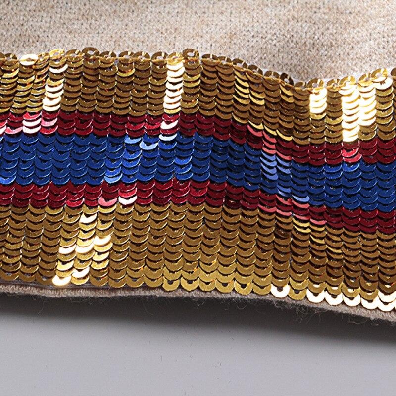 Chandail Vintage Broderie Eye Automne Picture À Nouveau Pull Col Paillettes Animé Hauts 2019 Hiver Jacquard A474 Color Roulé Tricoter Dessin Zz1qw16Cx