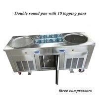 Popular US and Southeast Asia cold pan ice pan fry fried ice cream machine(2+10)|ice pan|cream machine|ice cream machine -