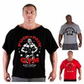 2016 marca o verão t-shirt ocasional do homem vestindo camisa do músculo gorila no mundo do fisiculturismo e fitness plus size clothing