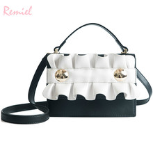 2018 Fashion New Women's Designer Handbag High quality PU leather Women bag Simple Lace Square bag Tote Shoulder Crossbody Bags