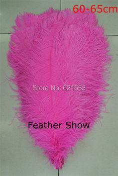 20pcs/lot!60-65cm long hot pink ostrich feather plumes for wedding centerpieces wedding decor