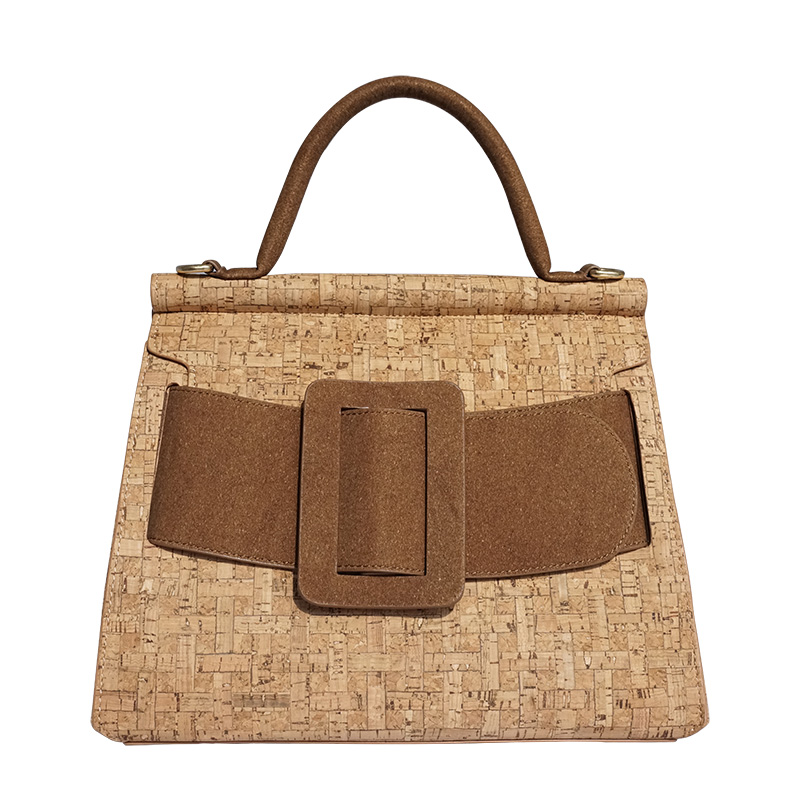 KAOGE Luxury Vegan Natural cork bag Women Handmade Shoulder Bags waterproof Antifouling Handbag Designer Bags Ladies Hand Bag стоимость