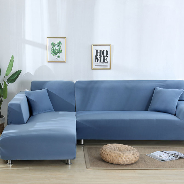 L Shaped Sofa Cover Spandex Slipcover Removable Housse Canape Covers For Living Room Sectional