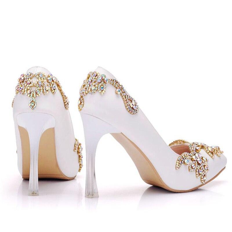 white Bombas Estrecha Strange Tacón 11cm Blanco 11 De Rhinestone Zapatos Color Alto Partido Vestir Punta Prom Heels Heels Red Novia Plataformas Heel Mujeres Boda qEXYXwF1