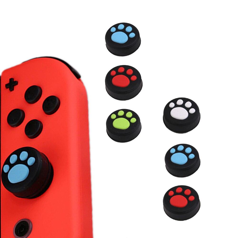 10pcs Silicone Thumb Grip Stick Caps For Nintend Switch Joy-Con NS NX Controller Button Case Cat Paw Joystick Caps Accessories