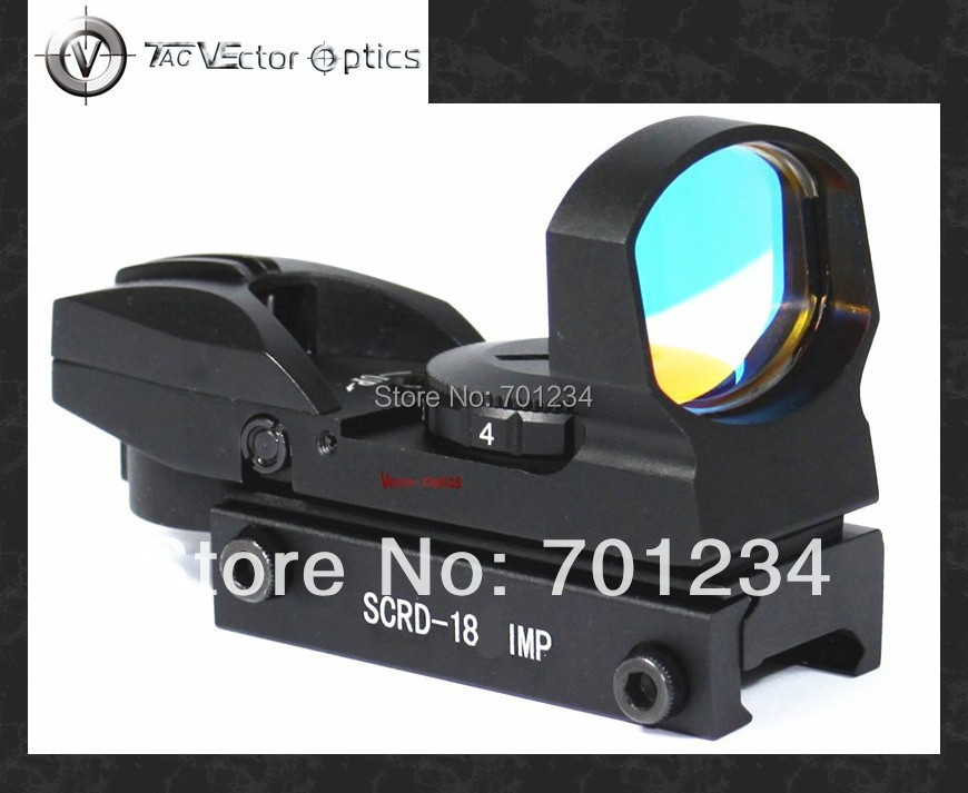 ФОТО Free Shipping Vector Optics 1x23x34 Multi Reticle Reflex Red Dot Scope Sight with 20mm Weaver or 11mm Dovetail Mount Base
