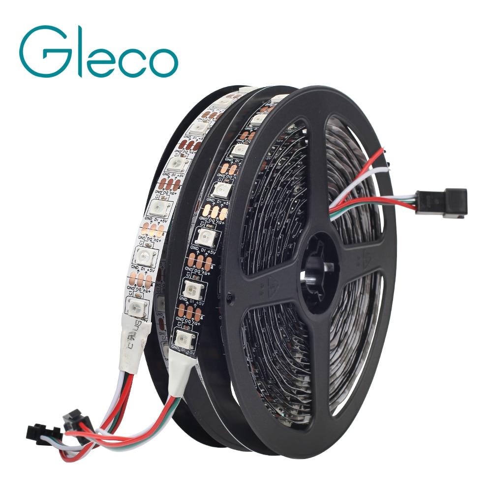 WS2812B LED Strip 5050 RGB 5V 30/60/144LED Pixels Ws2812 IC Addressable Color RGB LED Strip Light IP30 IP65 IP67 Waterproof