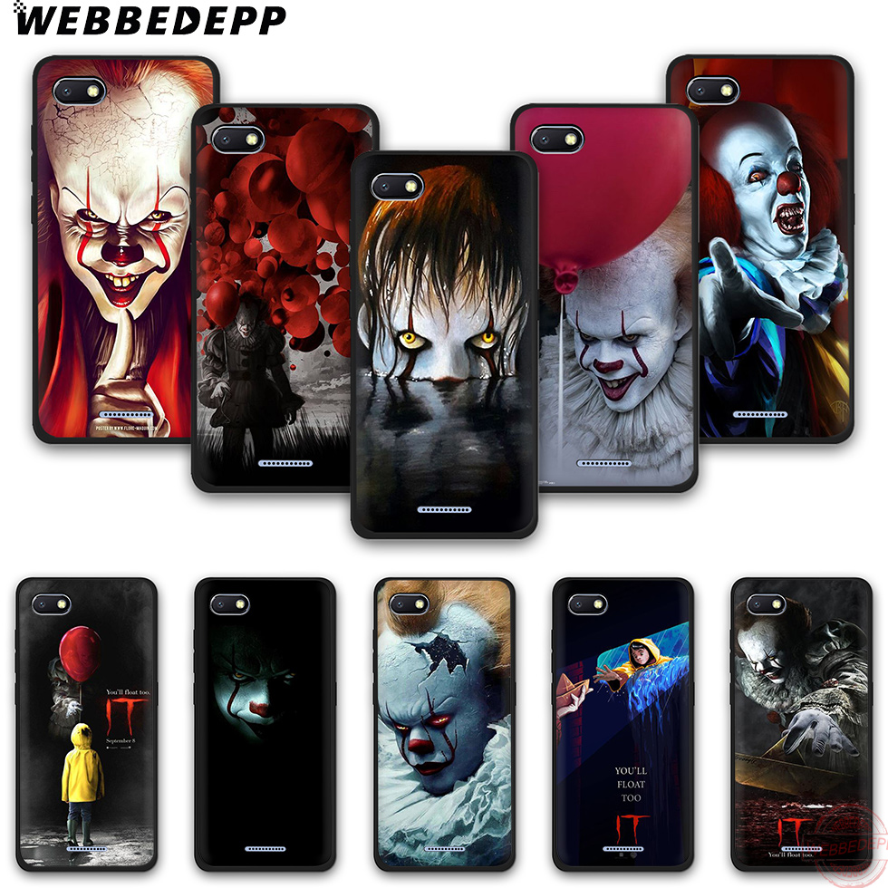 WEBBEDEPP Phone-Case Terror-It-Tpu Note-6pro Redmi 5 5A For Note-6pro/7pro/4a/.. Clown