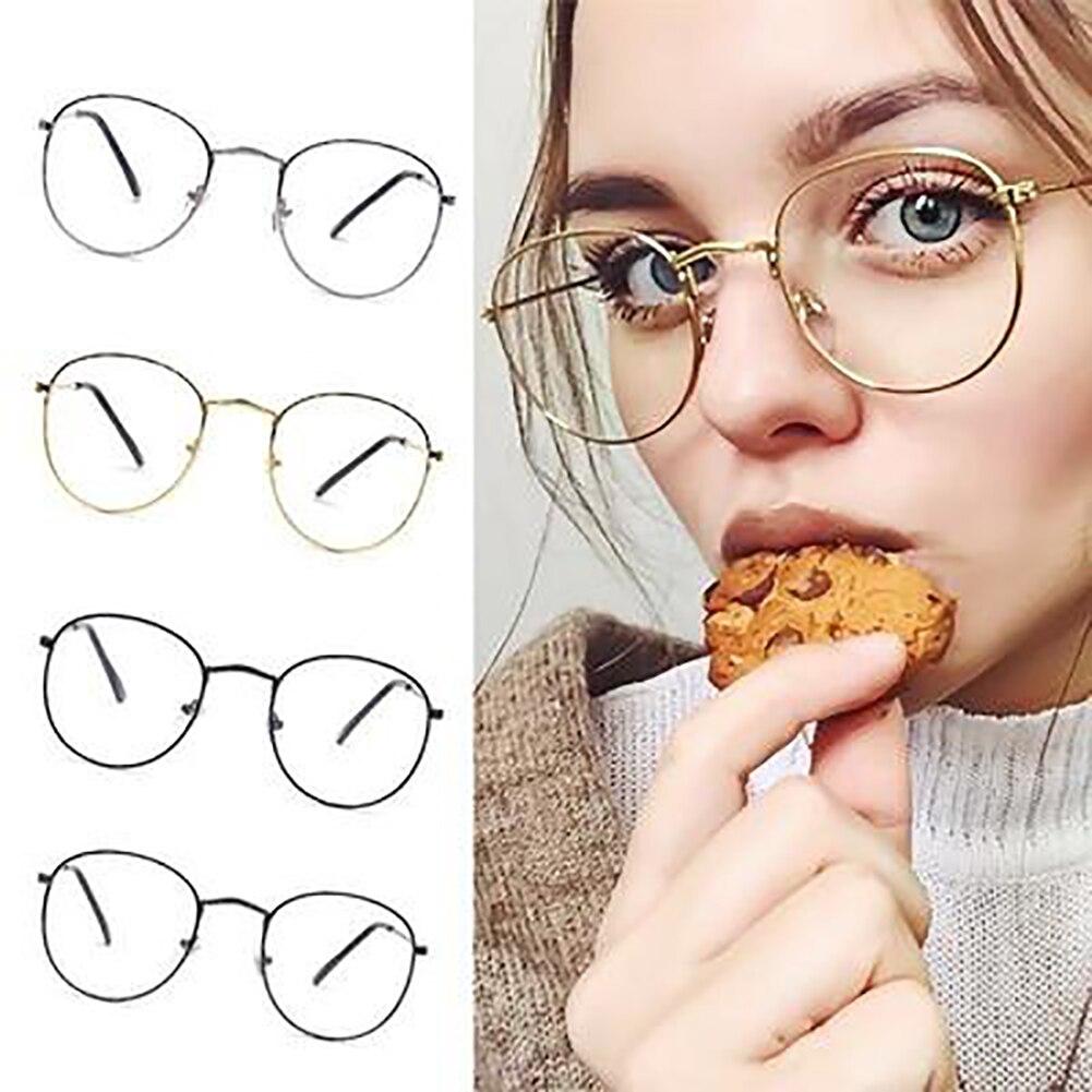 Vintage lunettes rondes cadre rétro femme marque concepteur gafas De Sol Spectacle plaine lunettes Gafas lunettes lunettes #137