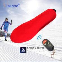 Зимние теплые электрические стельки с обогревом с беспроводным пультом дистанционного управления Лыжная обувь колодки тепловые стельки с подогревом для кемпинга на открытом воздухе