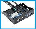 "1 pçs/lote 3.5 "" 2 portos USB3.0 & 2 portos USB2.0 Hub para interno 3.5 disquete Bay Front Panel suporte USB 3.0 2.0"