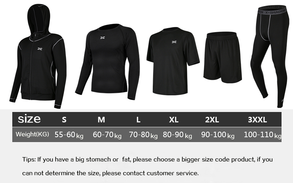 HTB1ZgrDaUGF3KVjSZFoq6zmpFXaC WorthWhile 5 Pcs/Set Men's Tracksuit Compression Sports Wear for Men Gym Fitness Clothes Running Jogging Suits Exercise Workout