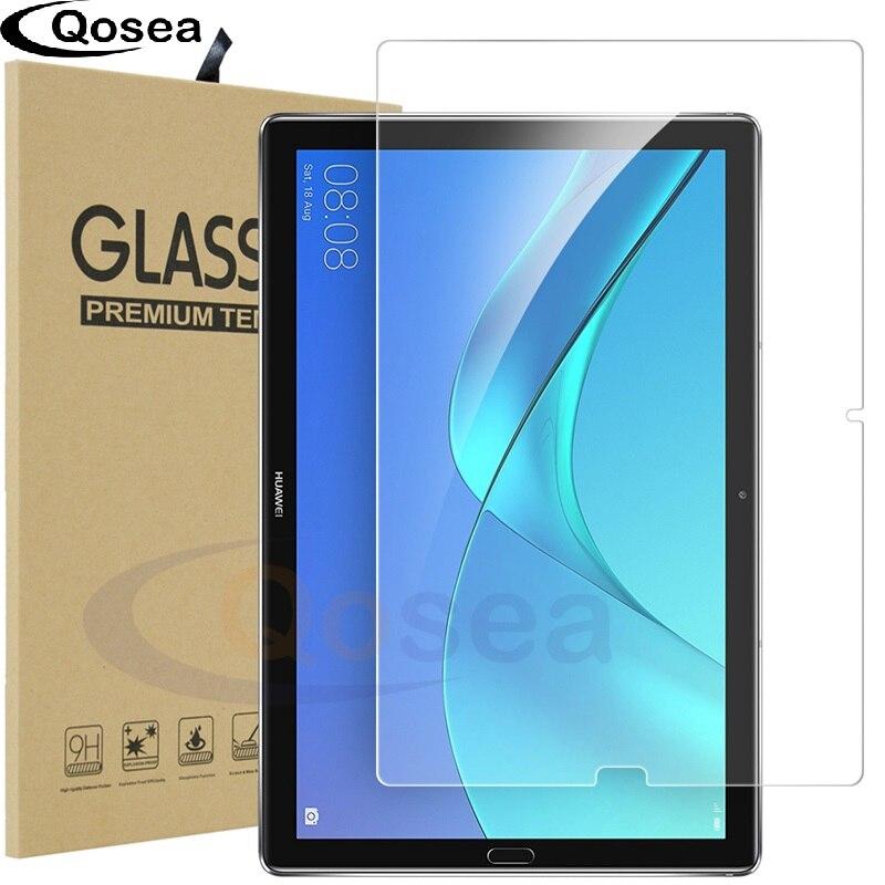 Qosea Pour Huawei MediaPad M5 10.8 Table PC Trempé Galss 9 H Ultra Clear Écran Protecteur Film Pour Huawei MediaPad M3 8.4 En Verre