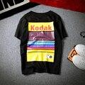 Japonés Camiseta de Los Hombres Streetwear Hip-Hop de Moda de Verano Impresión de la Letra de Manga Corta Patchwork Harajuku Camiseta Hombres y Mujeres