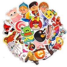 33PCS Cartoon Anime Angry Bird Kids Toy Sticker For DIY