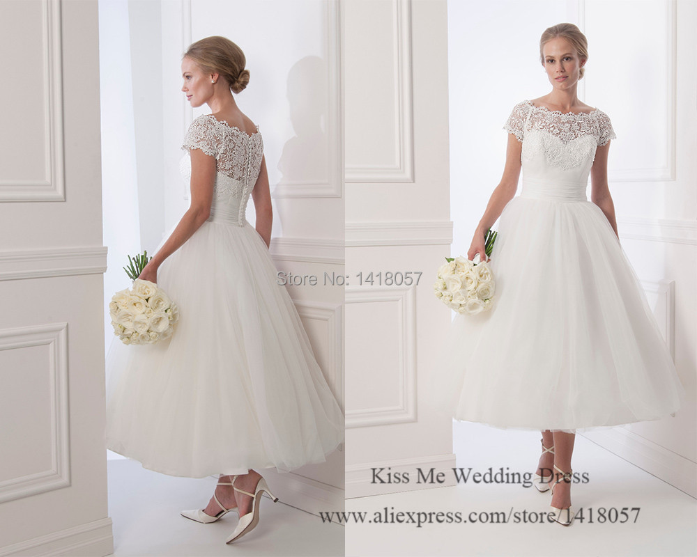 Western Style Vintage Cap Sleeve Wedding Dress With